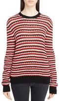 Saint Laurent Women's Crochet Stripe Sweater