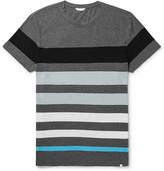 Orlebar Brown Sammy Striped Cotton-jersey T-shirt - Anthracite