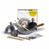Camilla And Marc Ken Hom Everyday Range Wok Set, 31 cm Diameter - Carbon Steel, Silver, 10-Piece Set