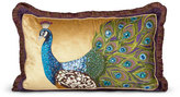 "Jay Strongwater Peacock Pillow, 26"" x 16"""