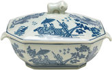 AA Importing 10 Tureen w/ Lid, Blue/White