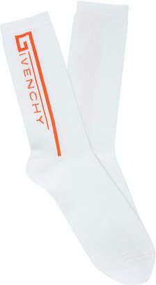 Givenchy Intarsia Cotton-Blend Socks Size: 43-46
