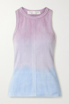 Proenza Schouler White Label Ribbed Tie-dyed Cotton Tank