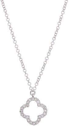 Ron Hami 14K White Gold Diamond Clover Pendant Necklace - 0.08 ctw