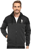U.S. Polo Assn. Fleece Hoodie with Quilt Yoke