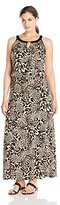 Calvin Klein Women's Plus-Size Keyhole Maxi Dress
