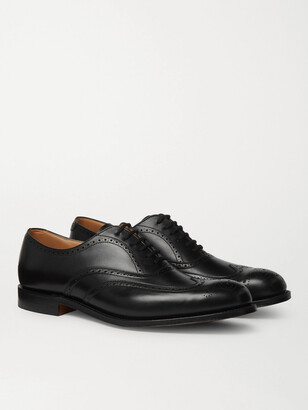 Church's Berlin Leather Wingtip Brogues - Black