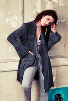 Free People Womens EMBROIDERED MEADOW JACKET