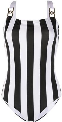 Balmain Striped Swimsuit