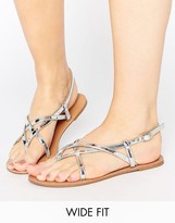Asos FROLIC Wide Fit Flat Sandals