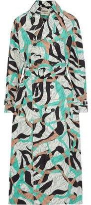 Roberto Cavalli Printed Shell Trench Coat