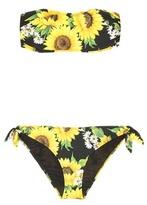 Dolce & Gabbana Printed bandeau bikini