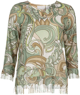 Alfred Dunner Sage Paisley Three-Quarter Sleeve Top - Petite