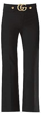 Gucci Women's GG-Detail Flare Pants