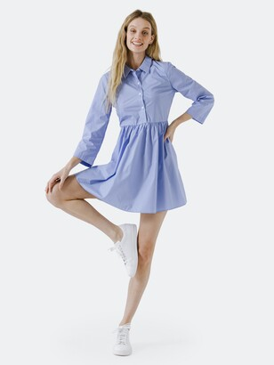 ENGLISH FACTORY Shirt Dress with Pleat detail