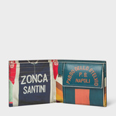 Paul Smith Men's Black Leather 'Cycling Jerseys' Print Interior Billfold And Coin Wallet