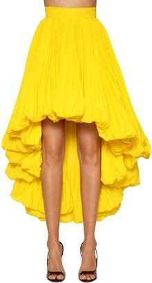 Alexandre Vauthier Faille High Waist Asymmetric Skirt