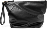 Diane von Furstenberg Origami Leather Clutch - Black