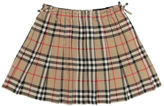 BURBERRY KIDS Vintage Check cotton skirt