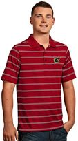 Antigua Men's Calgary Flames Deluxe Striped Desert Dry Xtra-Lite Performance Polo