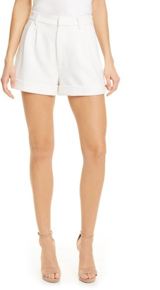 Alice + Olivia Conry Pleated Cuff Shorts