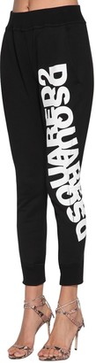 DSQUARED2 Logo Printed Cotton Jersey Track Pants