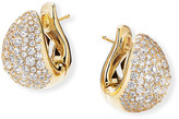 David Yurman Pave 18k Diamond Pear Huggie Earrings