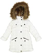 Urban Republic White Faux Fur Puffer Coat - Infant Toddler & Girls