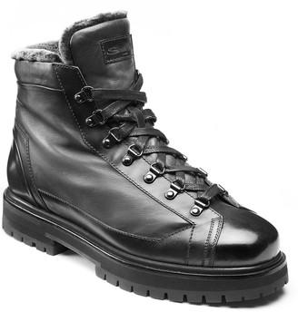 Santoni Men's Leather & Shearling Alpine Boots