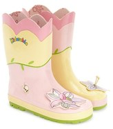 Kidorable Toddler Girl's 'Lotus' Waterproof Rain Boot