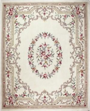"KM Home Closeout! Palace Garden Aubusson Cream 3'6"" x 5'6"" Area Rug"