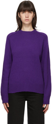 Acne Studios Purple Shetland Wool Sweater