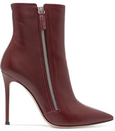 Gianvito Rossi Glossed-Leather Ankle Boots