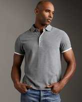 Zegna Sport Tipped Polo, Gray