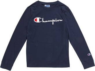 Champion Kids' Embroidered Signature Script Long Sleeve T-Shirt