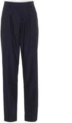 Salvatore Ferragamo High-rise slim wool pants