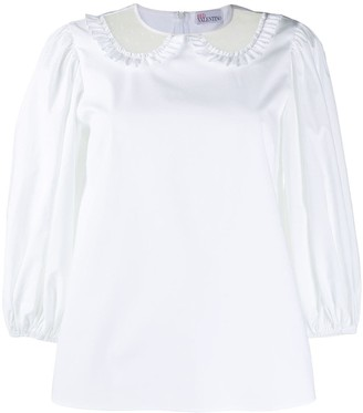 RED Valentino Sheer Collar Blouse