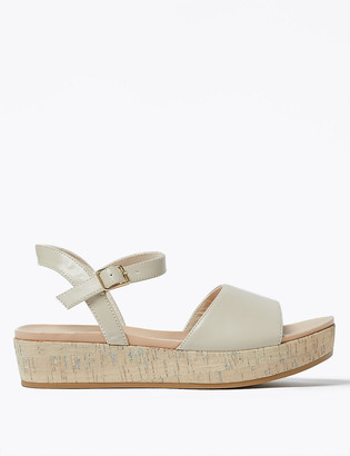 Marks and Spencer Ankle Strap Flatform Open Toe Sandals