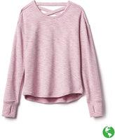 Athleta Girl Criss Cross Back Sweatshirt