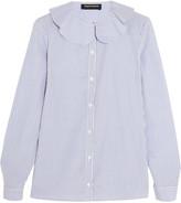 Vanessa Seward Candy striped cotton-poplin blouse