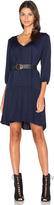 Michael Stars 3/4 Sleeve Drop Waist Dress