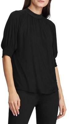Lauren Ralph Lauren Slim-Fit Lace-Trimmed Jersey Top