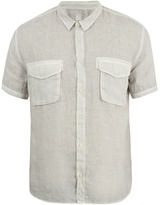 120% Lino Short-sleeved Linen Shirt