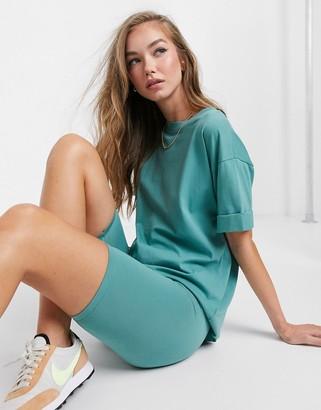 ASOS DESIGN mix & match co-ord basic legging short in teal
