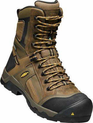 "Keen Mens CSA Davenport 8"" 200G Composite Toe Waterproof Work Boot Construction Boot"