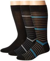Steve Madden 3-Pack Crew - Pattern Men's Crew Cut Socks Shoes