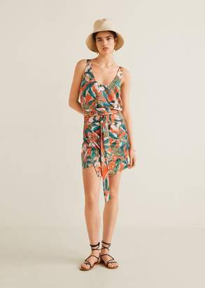MANGO Tropical print miniskirt red - M - Women