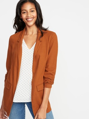 Old Navy Linen-Blend Blazer for Women
