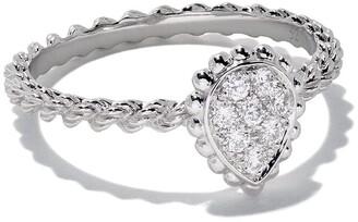 Boucheron 18kt white gold Diamond Serpent Boheme XS motif ring