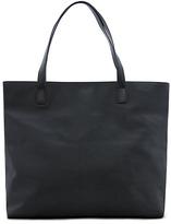 Leather effect shopper bag